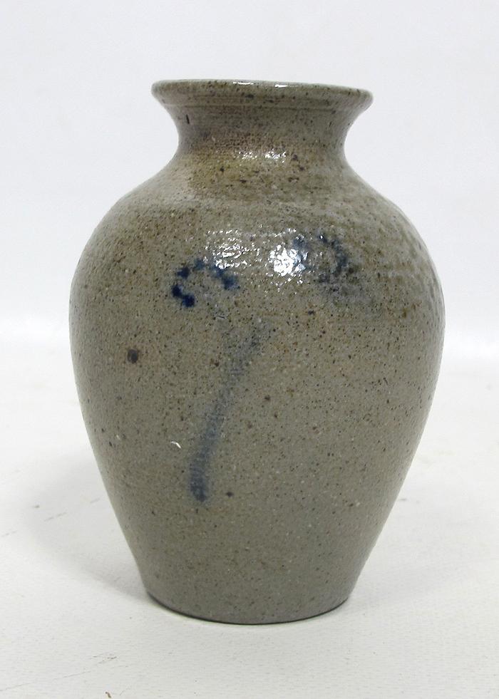 Hard-Working Vintage Salt Glaze Vase With The Best Service Vases