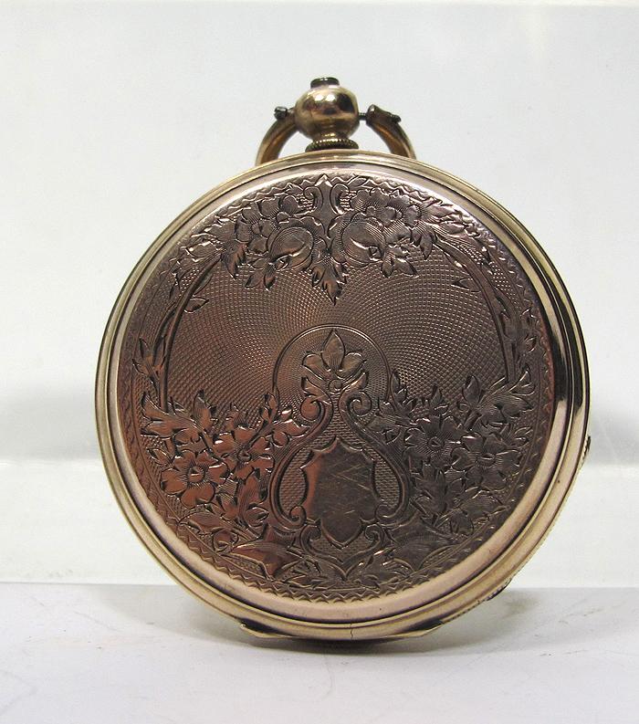antique u bourquin geneva swiss gold filled closed